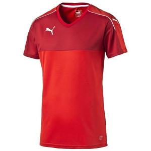 PUMA Accuracy Shortsleeved Shirt, puma red-white