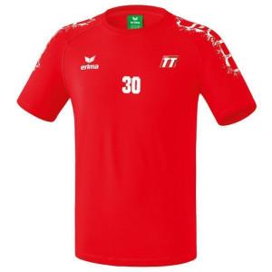 HSG ERIMA GRAFFIC 5-C T-Shirt rot/weiß