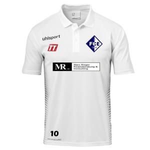1FCE UHLSPORT Score Trainer Polo Shirt weiß