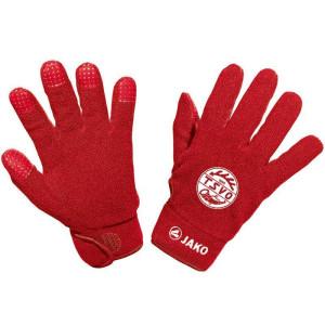 TSVO JAKO Feldspielerhandschuhe Fleece rot