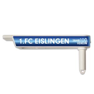 1.FCE Ratsche Pfeife-weiß inkl. Druck