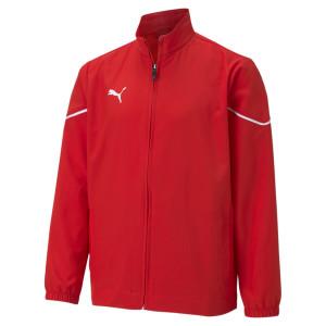 PUMA teamRISE Sideline Jacket Jr, Puma Red-Puma Black