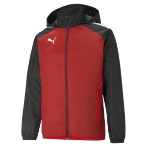 PUMA teamLIGA All Weather Jacket, Puma Red-Puma Black
