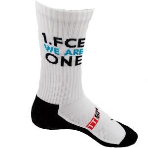 1.FCE GRIPSOCKS weiß im FCE one Design