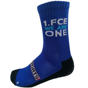 1.FCE GRIPSOCKS blau im FCE one Design