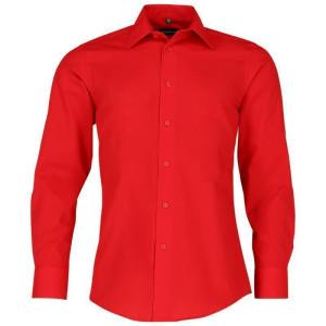langärmliges tailliertes Popeline Hemd ohne Tasche