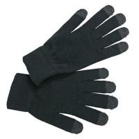 Strickhandschuhe schwarz, Touch-Screen tauglich