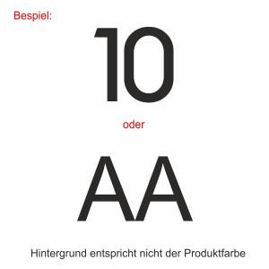 Personalisierung (Nummer/Initialen)